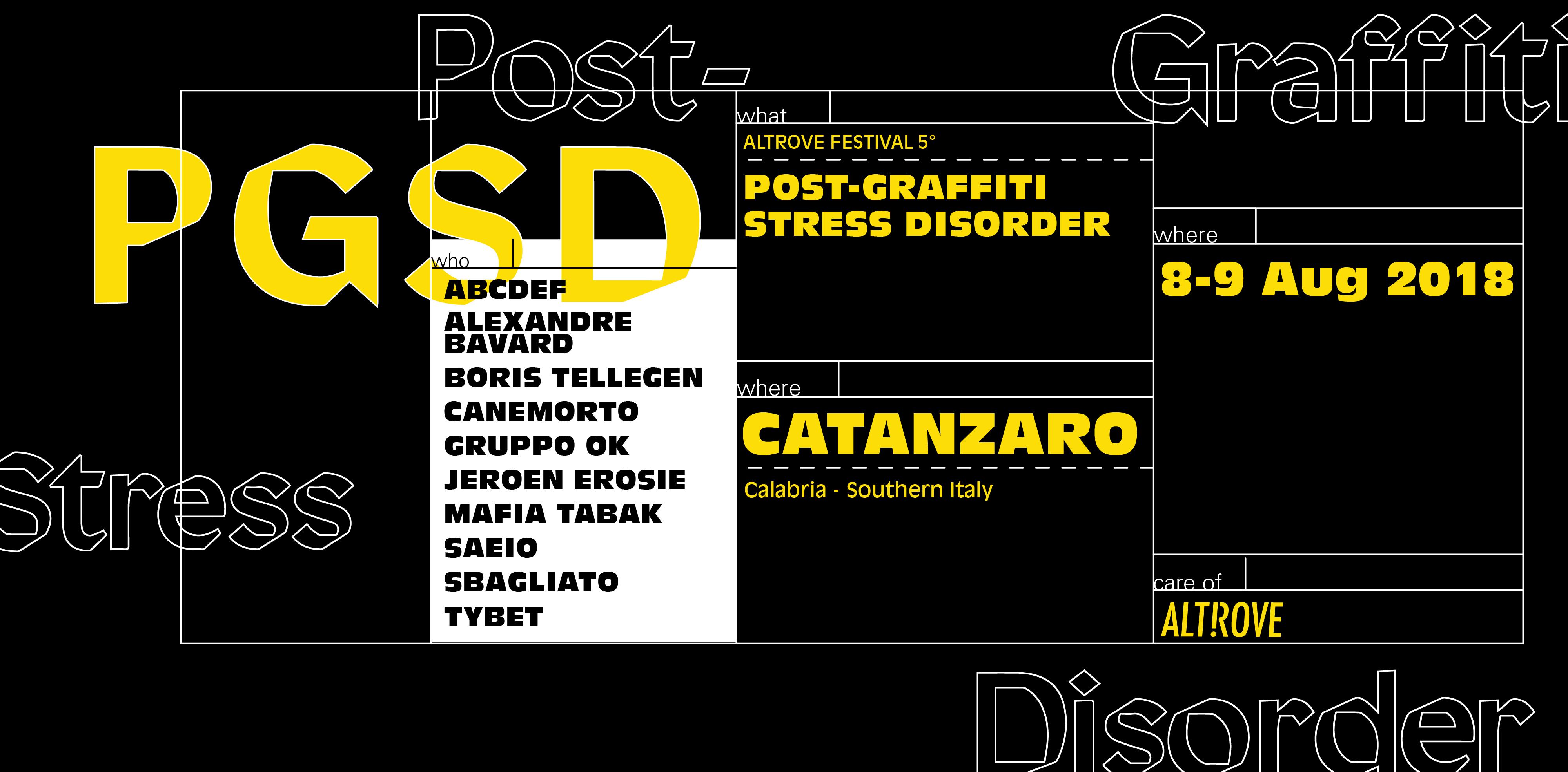 Post-Graffiti Stress Disorder, tutto pronto per la 5a edizione di Altrove Festival   Collater.al 3