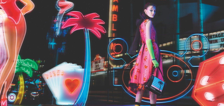 Prada presents FW18 collection in the Neon Dream video