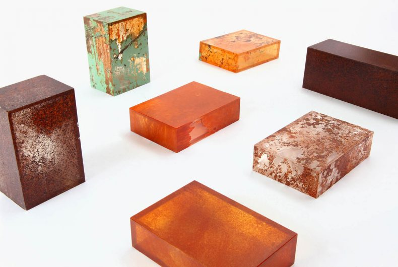 Rust Harvest is a furniture collection made of rust signed by Yuma Kano