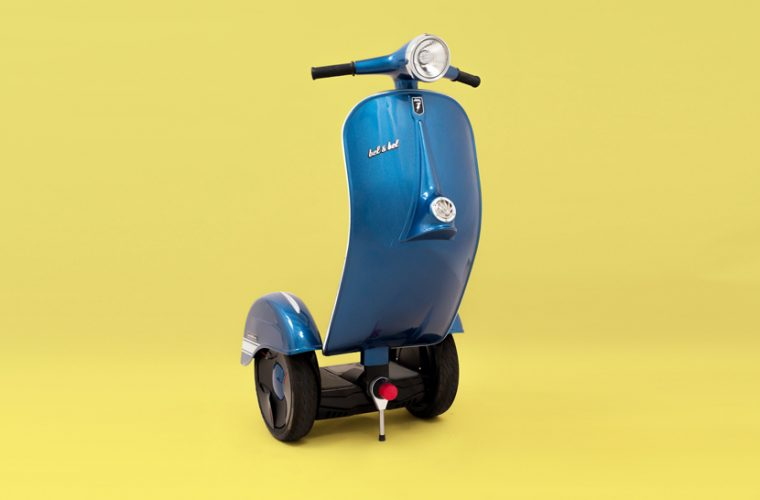 Z-Scooter, a little bit Vespa a little bit segway