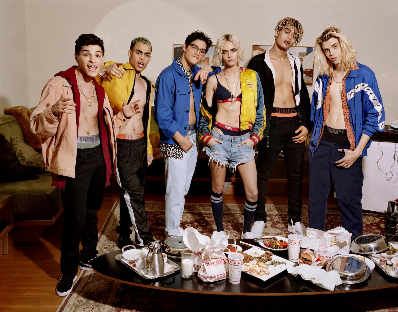 Cara Delevigne e Prettymuch x Puma Bodywear AW18 | Collater.al 2