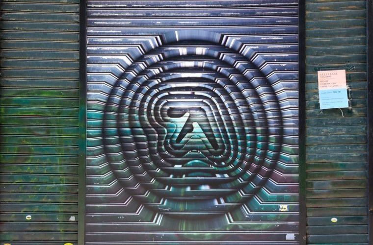 The Aphex Twin's logo surprising invades London and Turin
