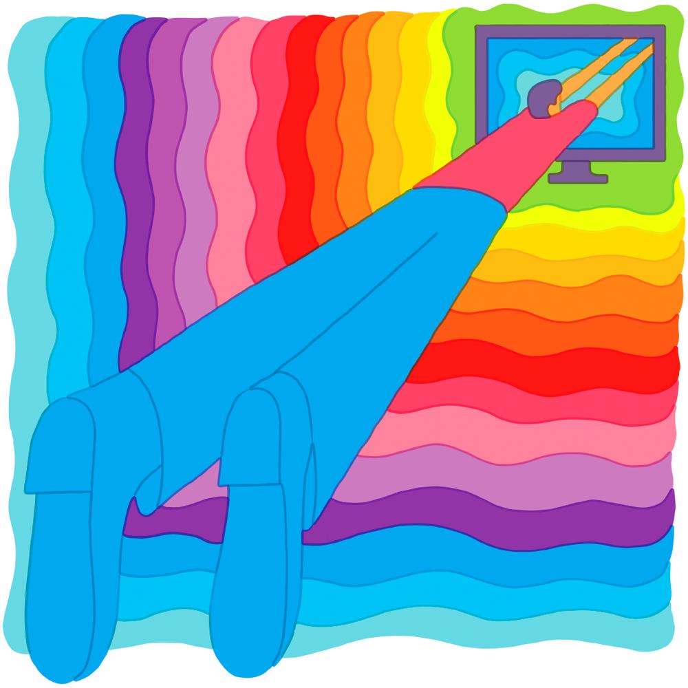 Le illustrazioni psichedeliche e spensierate di Tim Lahan   Collater.al
