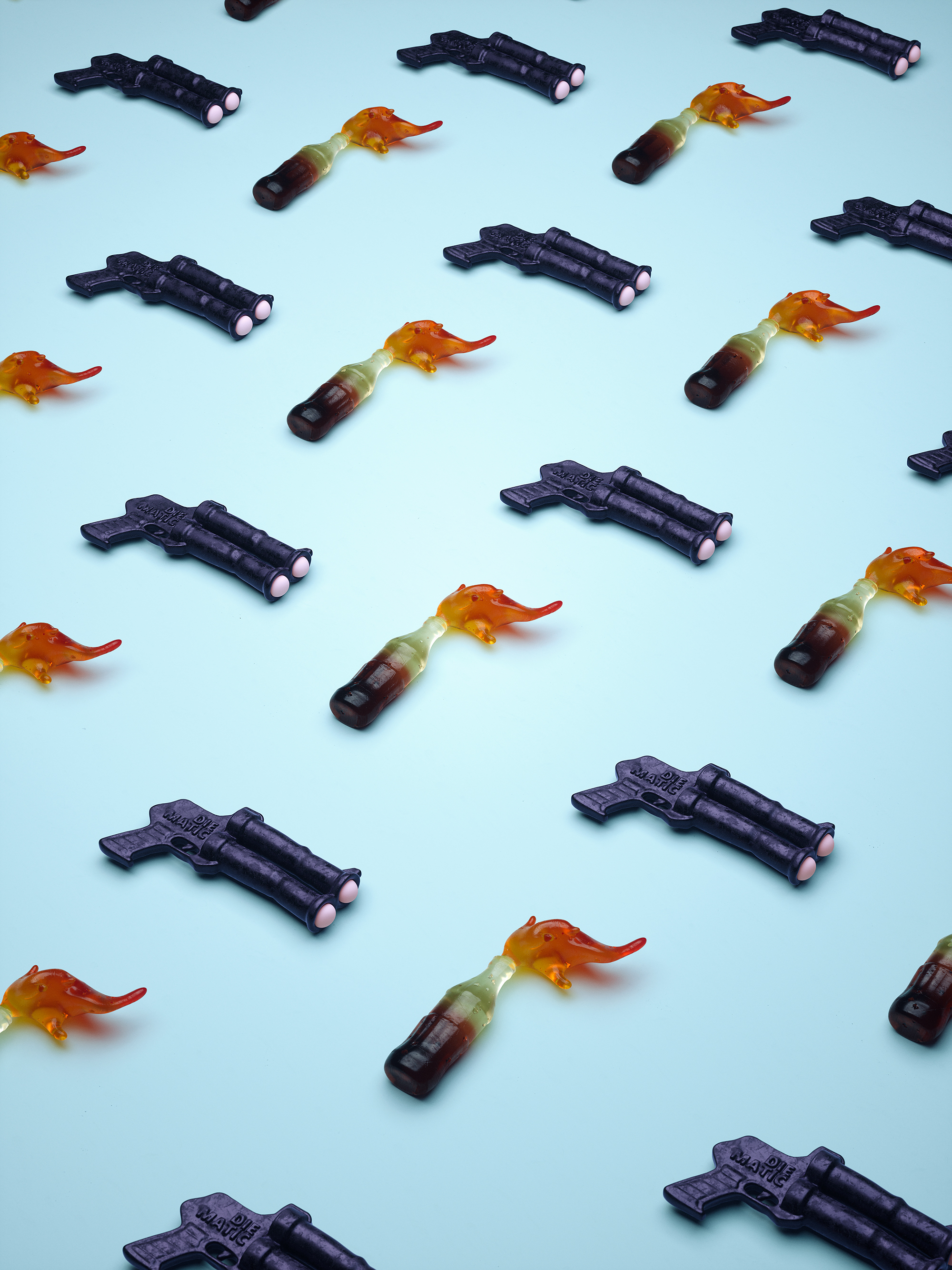 To The Last Candy by Cristian Girotto, weapons like candy