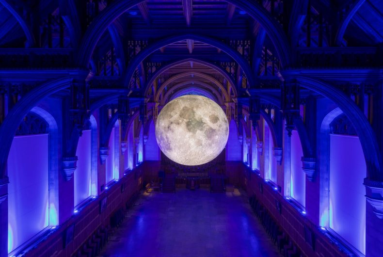 Let's go to the moon with Luke Jerram's installation