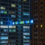 Detroit Skybridge, i blocchi luminosi di colore di Phillip K Smith III | Collater.al 5