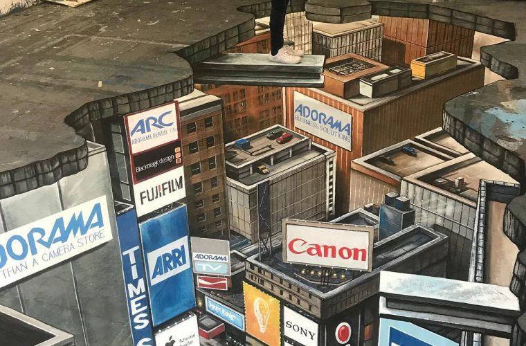 Joe Hill aka 3Djoeandmax e i murales che illudono lo sguardo