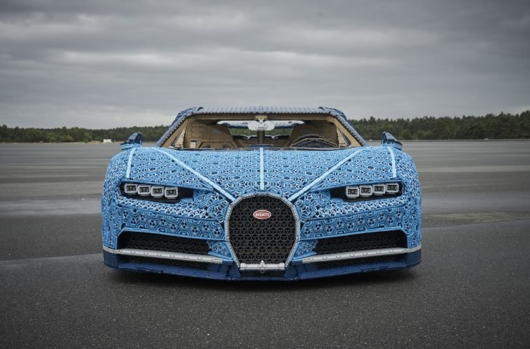 LEGO Technic Bugatti Chiron built entirely with LEGO bricks