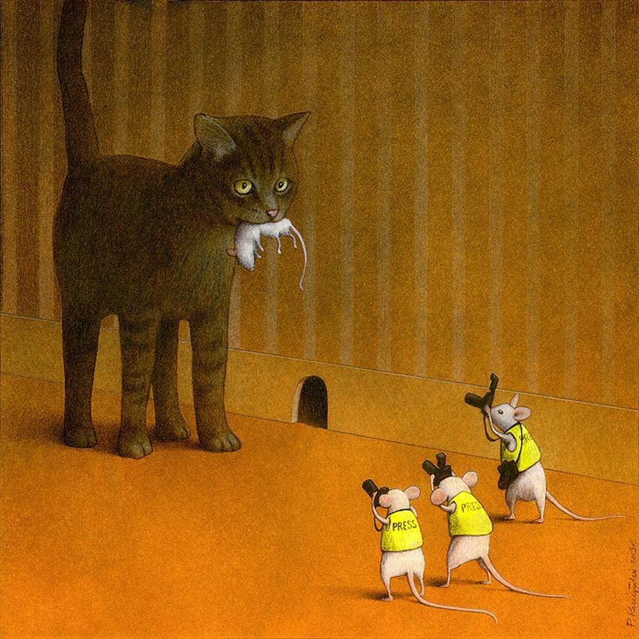 Le illustrazioni satiriche firmate Pawel Kuczynski | Collater.al