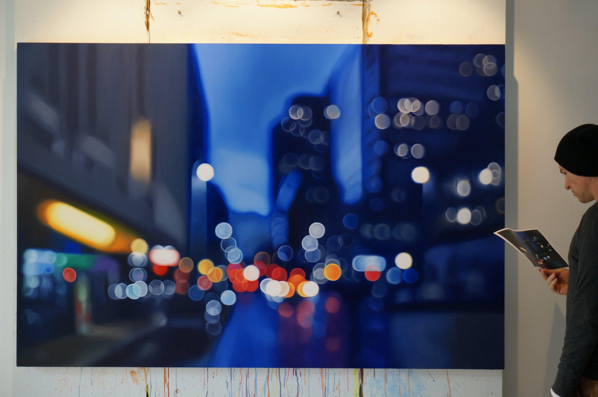 Night Philip Barlow affascina con i suoi dipinti sfuocati | Collater.al