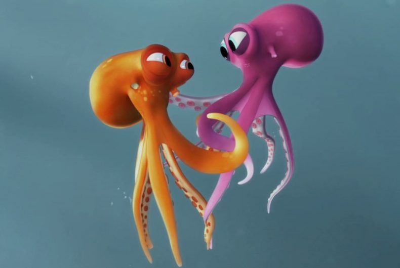 Short video for Breakfast – Oktapodi, two octopuses in love on the run for freedom
