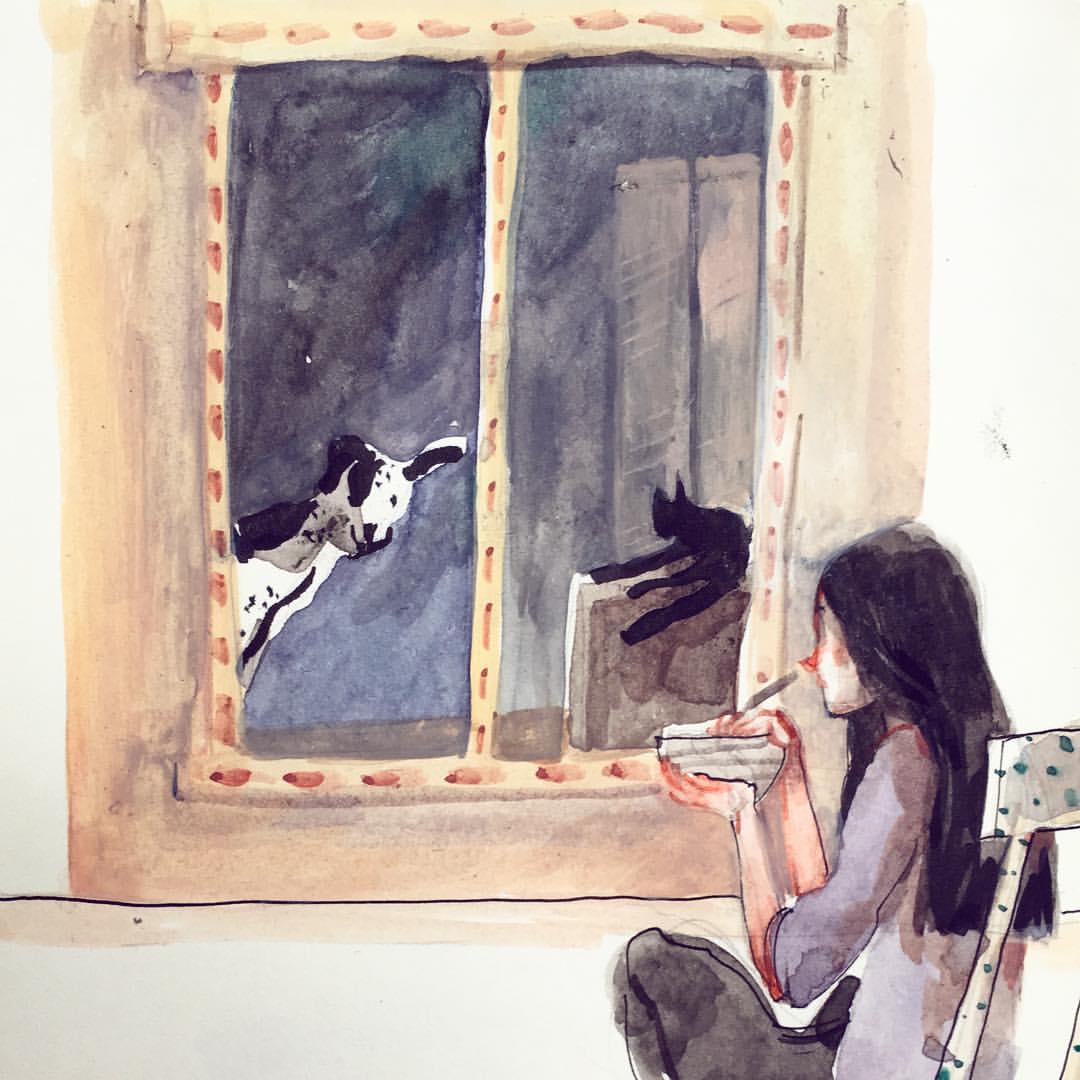 Poesia ed ironia negli acquerelli di Ilaria Urbinati | Collater.al