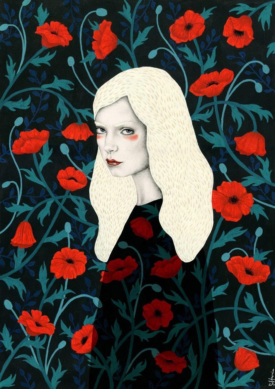 Sofia Bonati racconta le donne su sfondi astratti | Collater.al