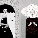 Sofia Bonati racconta le donne su sfondi astratti | Collater.al 3