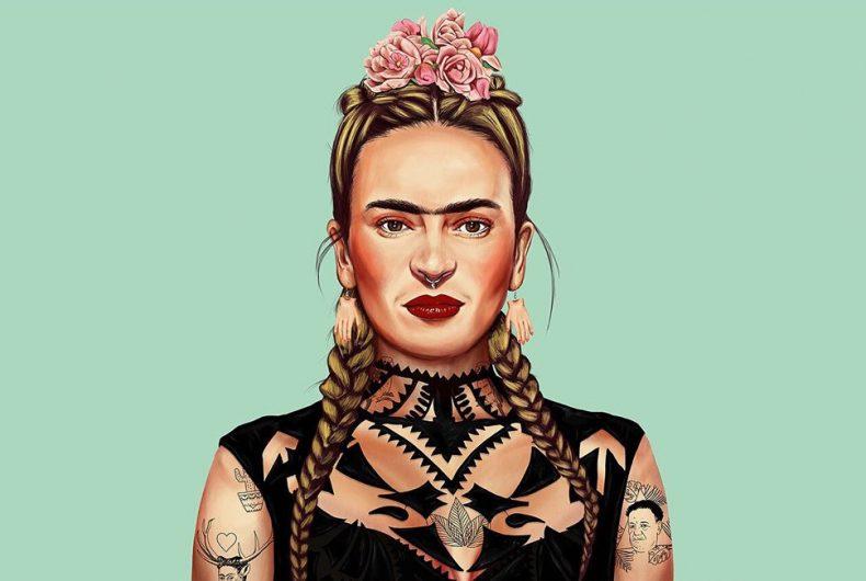 Frida, Picasso e Dalì vestiti da hipsters nei lavori di Amit Shimoni