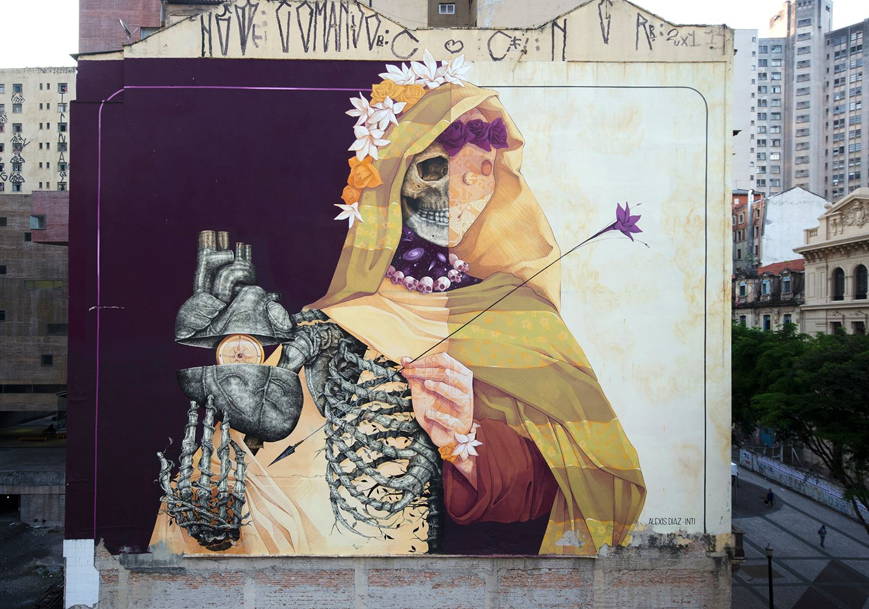 Colori caldi come il sole: il fascino latino dei murales di INTI | Collater.al