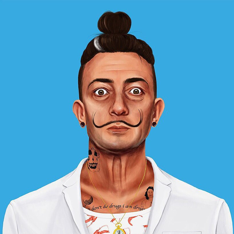 Frida, Picasso e Dalì vestiti da hipsters nei lavori di Amit Shimoni | Collater.alFrida, Picasso e Dalì vestiti da hipsters nei lavori di Amit Shimoni | Collater.al