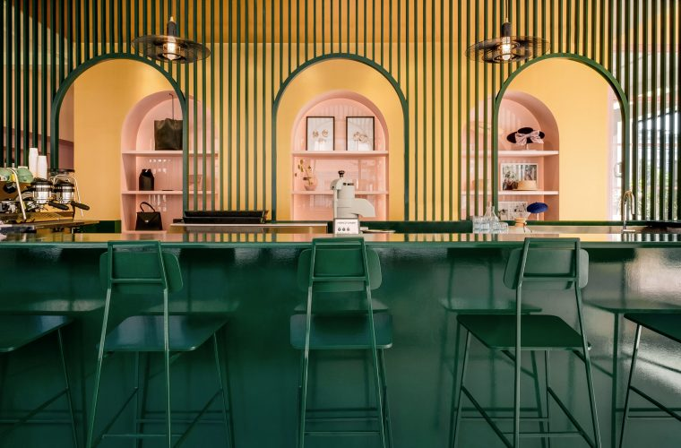 Pastel Rita Cafe by Appareil Architecture is a triumph of colors