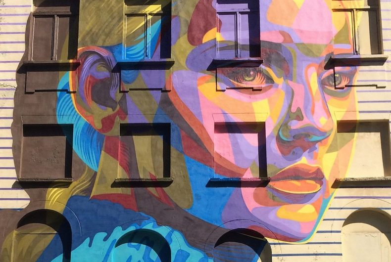 Colorful and powerlful realism Dourone 's street art