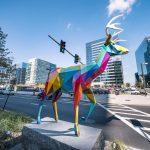 Le coloratissime sculture di Okuda San Miguel a Boston | Collater.al 1