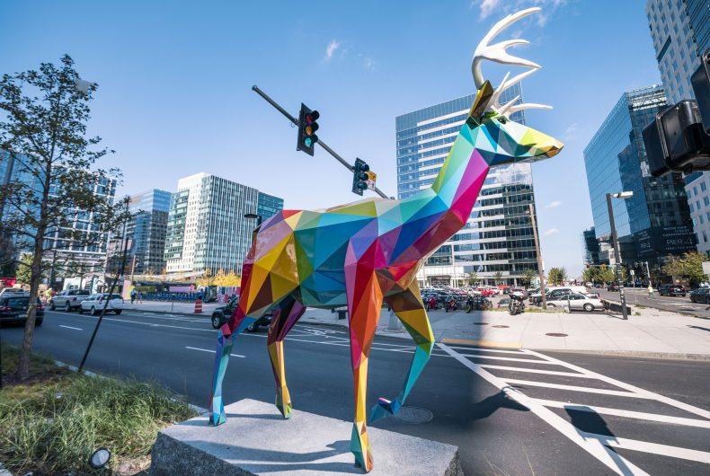 Le coloratissime sculture di Okuda San Miguel a Boston