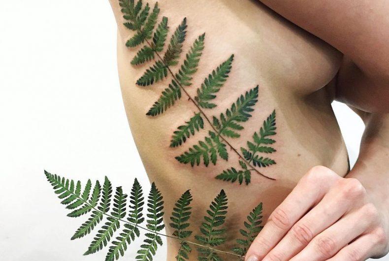Rit Kit trasforma piante e fiori in tatuaggi iperrealistici