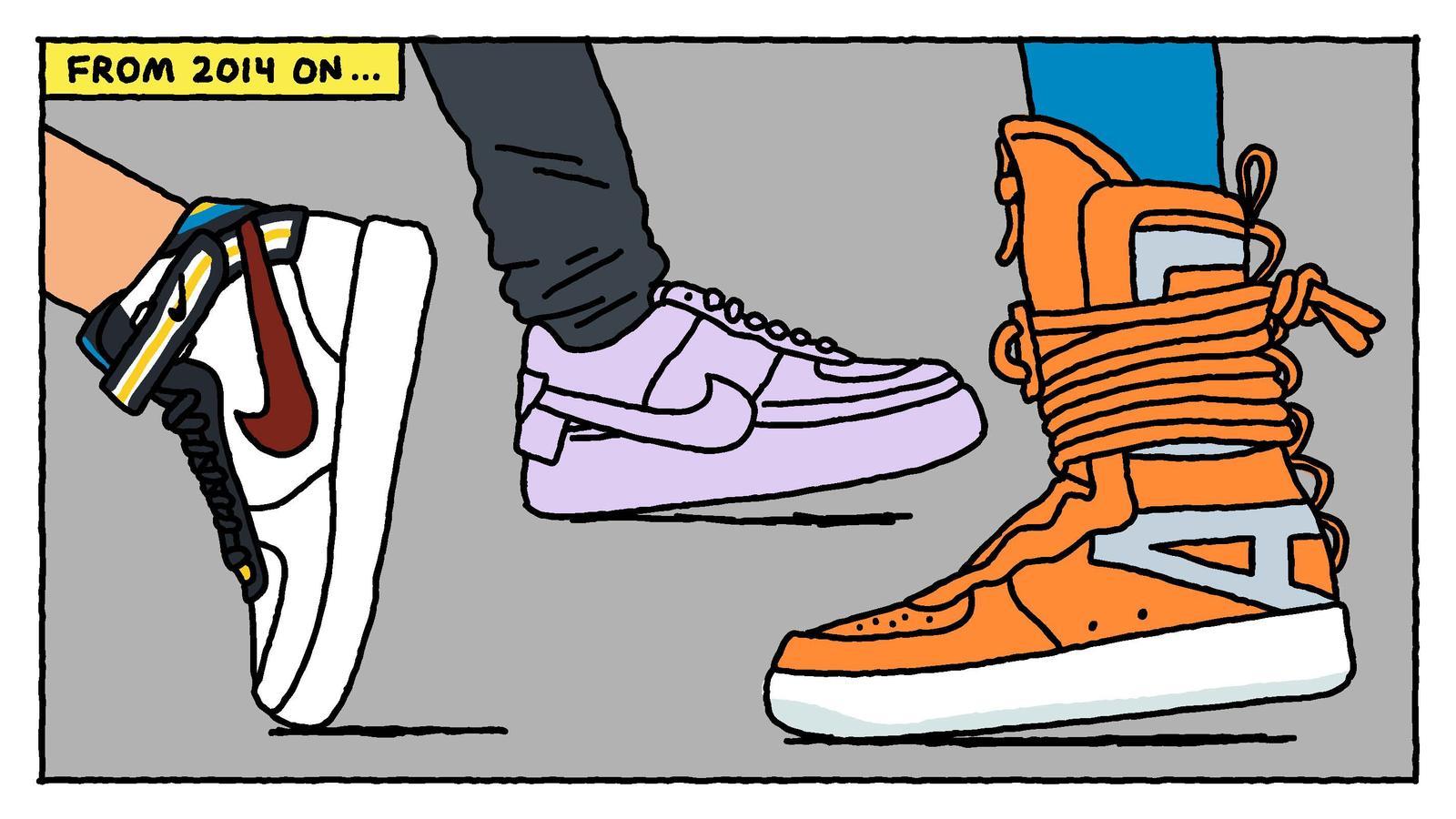 new product 2d78f 136ae 12 illustrazioni raccontano la storia delle Nike Air Force 1  Collater.al  10