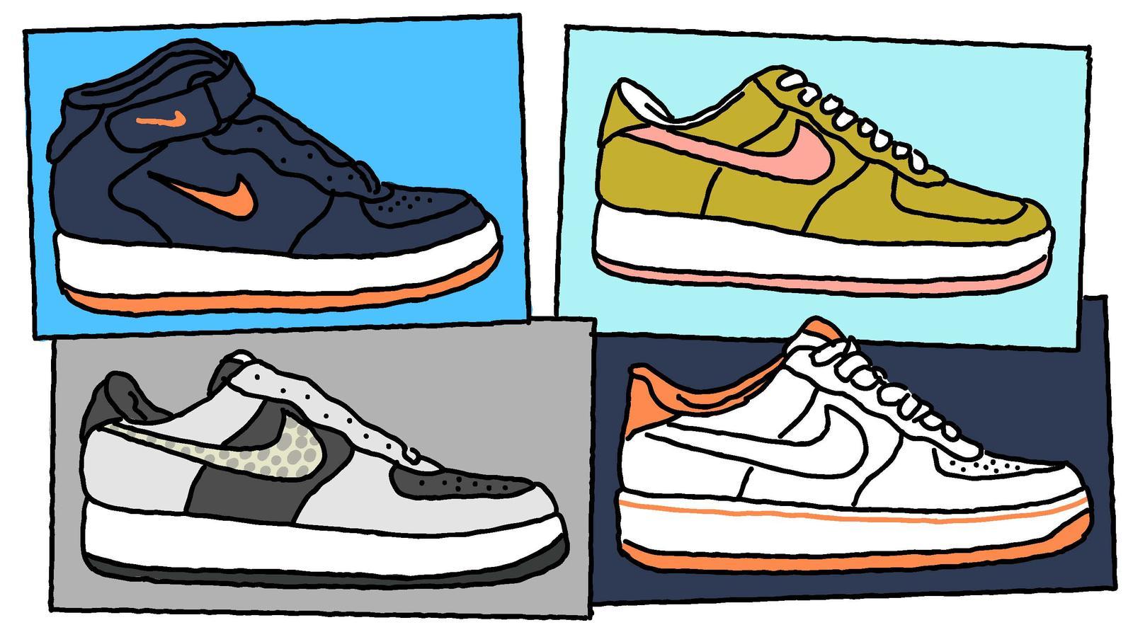 reputable site 19e73 68012 12 illustrazioni raccontano la storia delle Nike Air Force 1  Collater.al 5