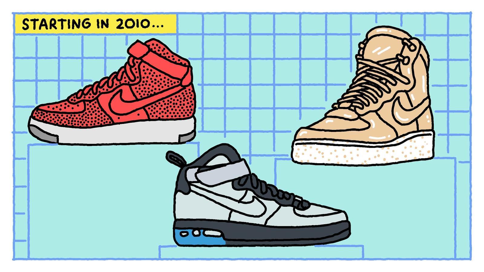 new concept 5d5c2 90ce8 12 illustrazioni raccontano la storia delle Nike Air Force 1  Collater.al 9