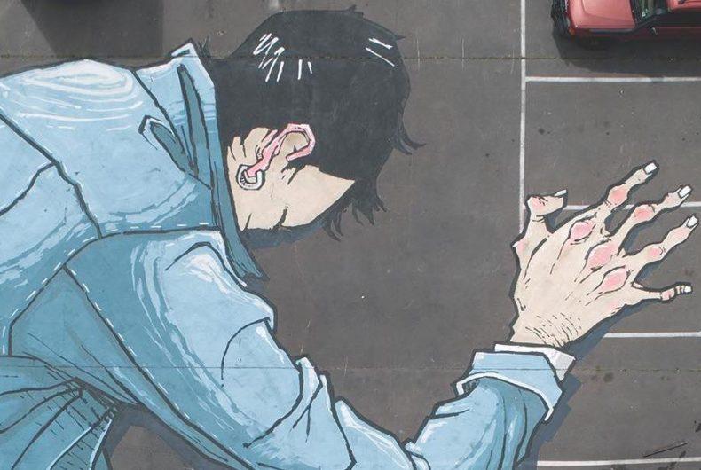 Go to Bed, the new mural by Kitt Bennett