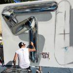 I murales cromati tridimensionali di Fanakapan | Collater.al 2