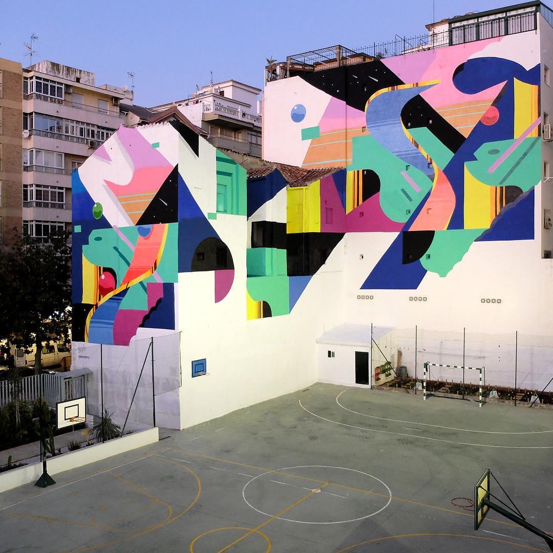 La street art di Murone, un'armonia di colori e forme| Collater.al 7