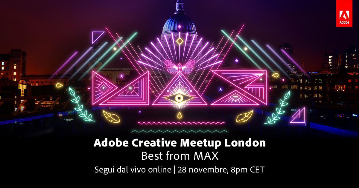 Scopri come seguire in diretta Adobe Creative Meetup del 28 novembre | Collater.al