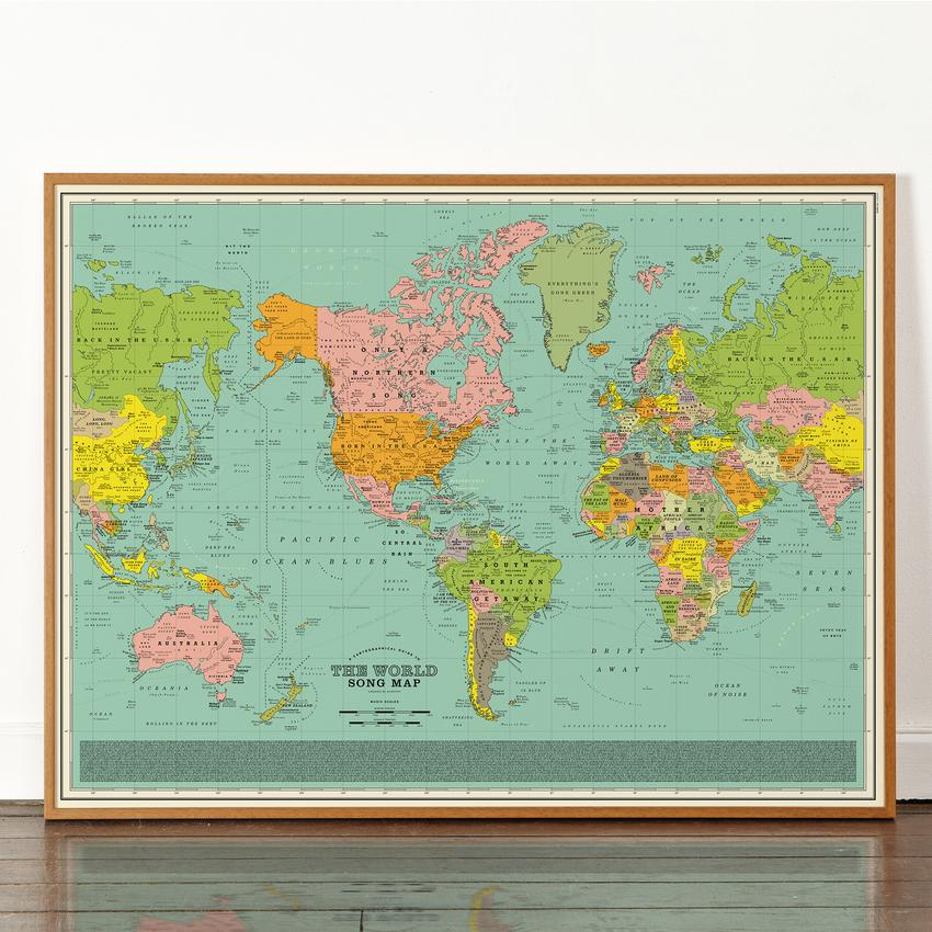 City Names Become Song Titles In The World Song Map Collater Al