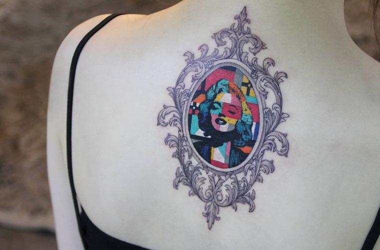 Geometrie perfette e colori vibranti nei tatuaggi di polyc_sj