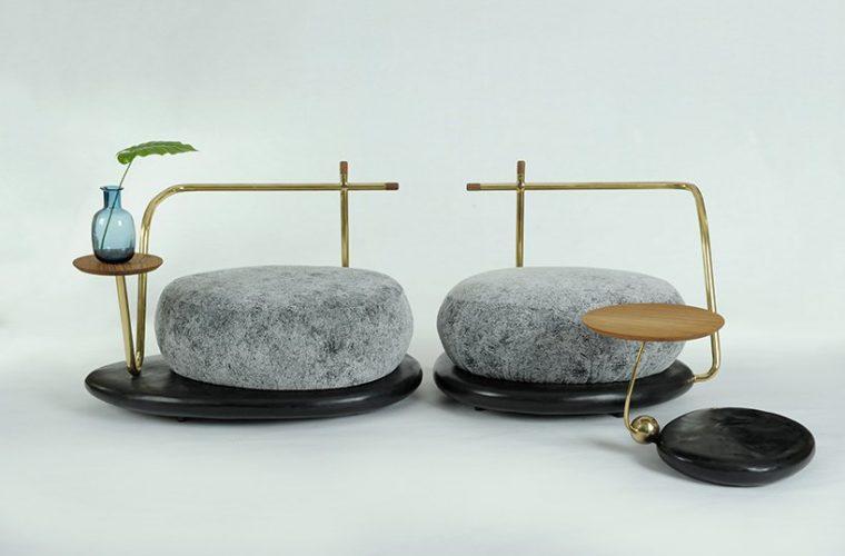 Zen Stone, il set di mobili ispirato agli elementi dei giardini zen