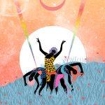 Ballando al chiaro di luna- le grafiche di Ignacia Ossandon | Collater.al 6