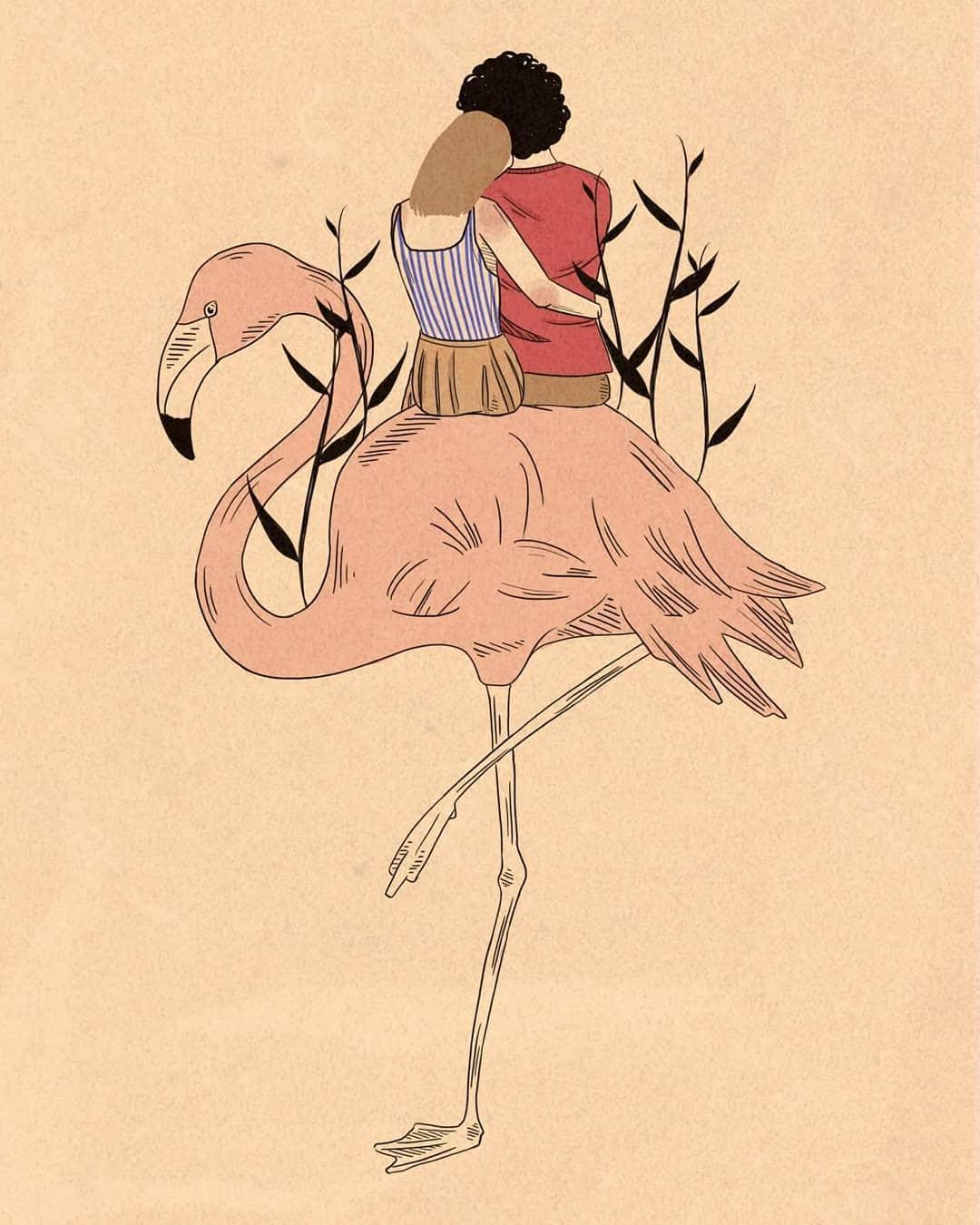 Colori caldi ed intimità nelle illustrazioni di Martina Francone | Collater.al 12