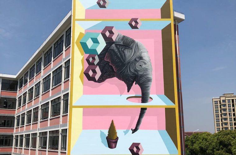 I totem tridimensionali nella street art di BirdO