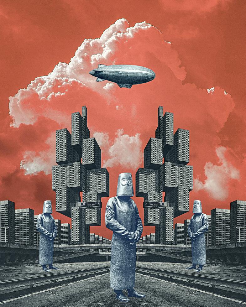 Il mondosottosopra dei collage diSerg Nehaev   Collater.al