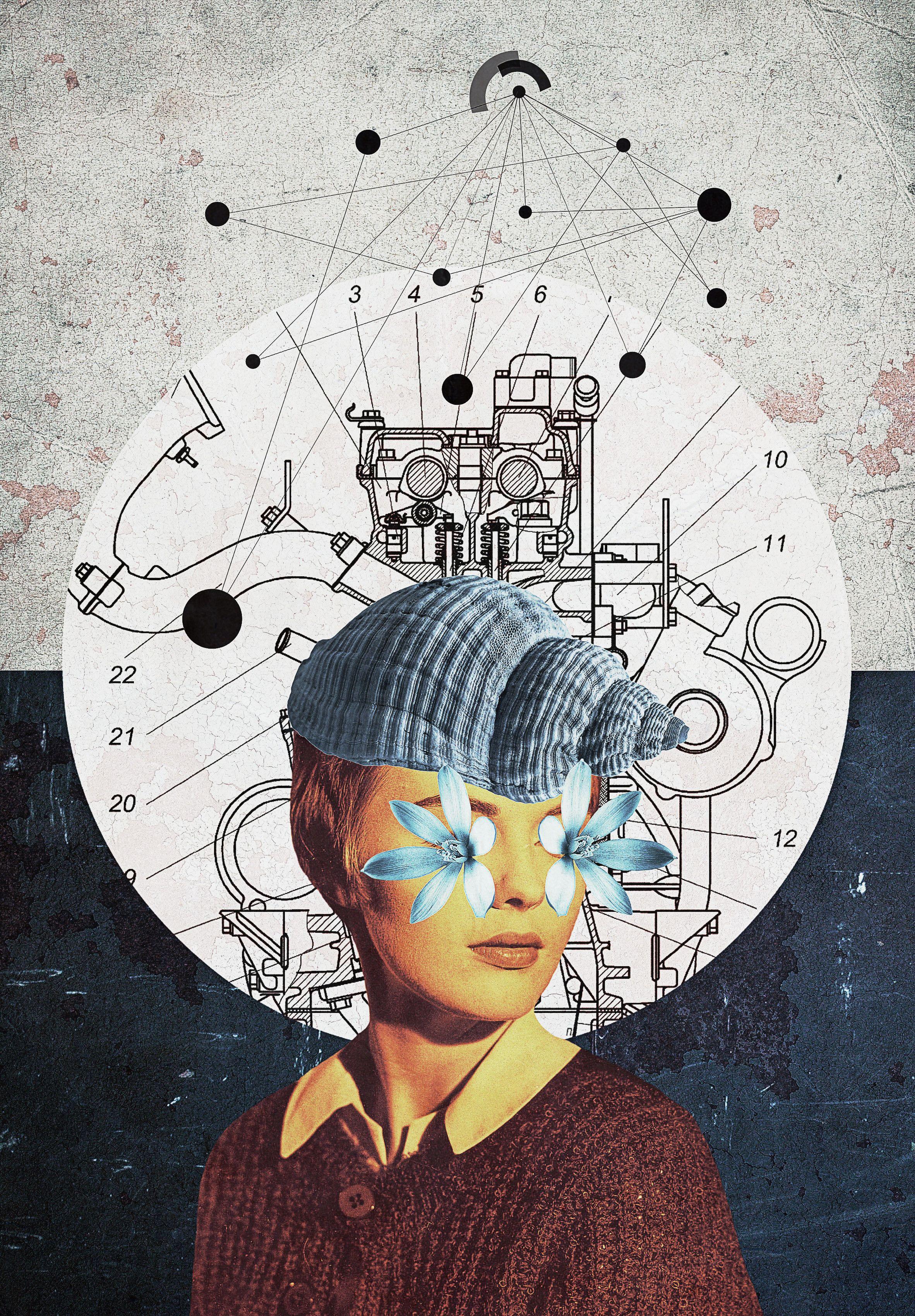 Il mondosottosopra dei collage diSerg Nehaev | Collater.al