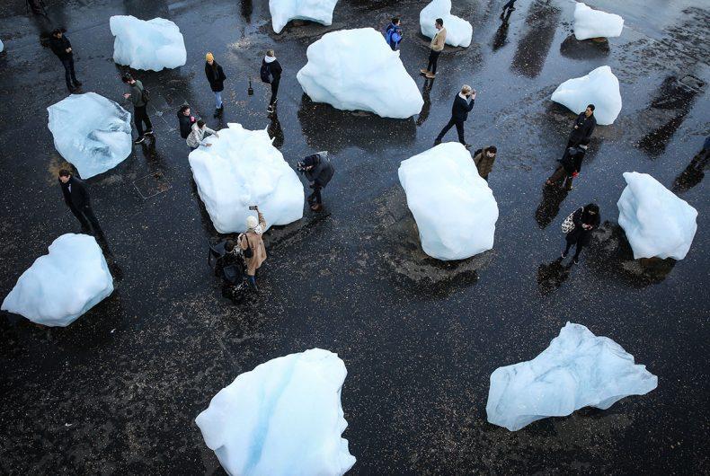 Ice Watch di Olafur Eliasson ci mostra gli effetti del riscaldamento globale