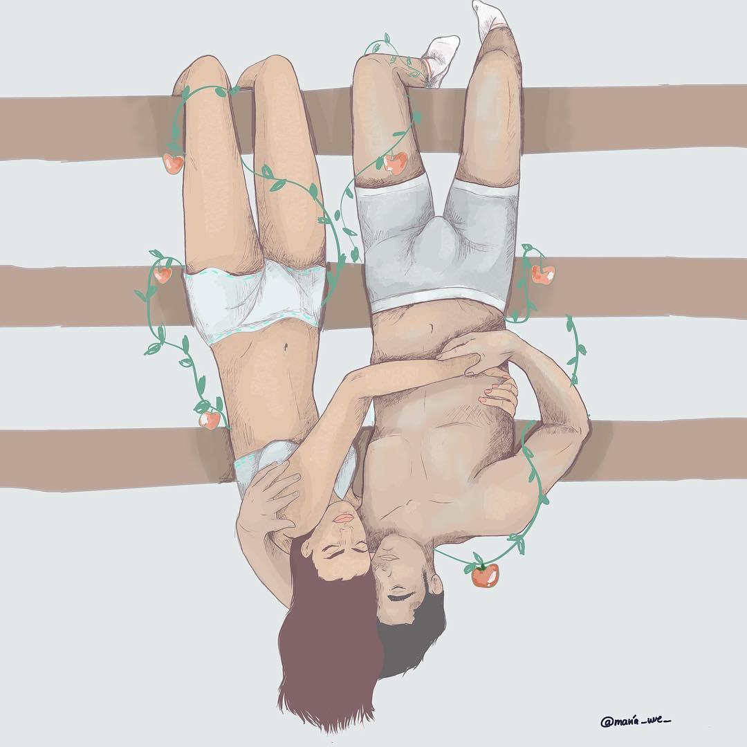 La sensualità del quotidiano nelle illustrazioni di Maria Uve | Collater.al
