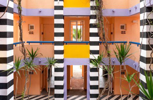 Le geometrie audaci di Camille Walala alle isole Mauritius