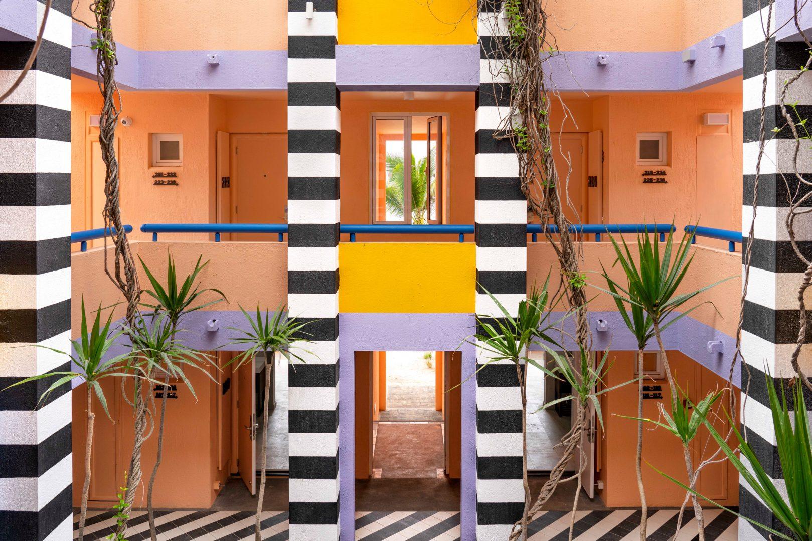 Daring geometries in Mauritius by Camille Walala