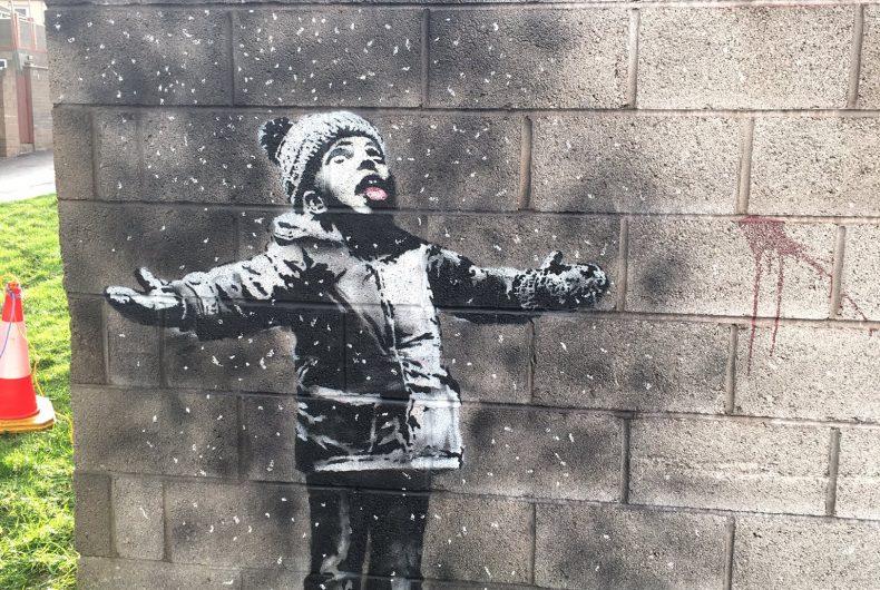 Banksy strikes again and wishes us season's greetings