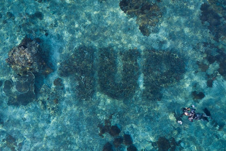 1UP, the German crew has created the first underwater murals
