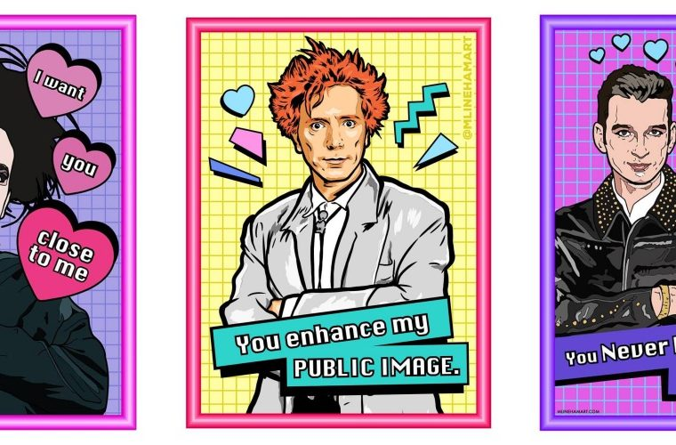 80s never die, le cards di San Valentino di Matthew Lineham