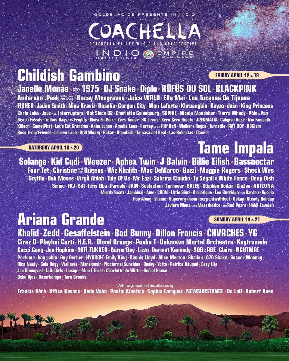 Coachella 2019, ecco la line up che stavi aspettando | Collater.al