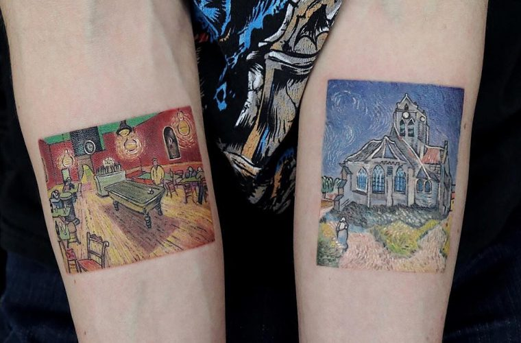 Eva Krbdk tattoos inspired by the world's most famous works of art